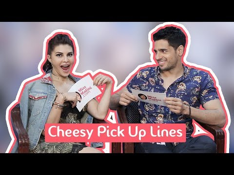 Thumbnail: Cheesy Pick Up Lines With Sidharth Malhotra & Jacqueline Fernandez