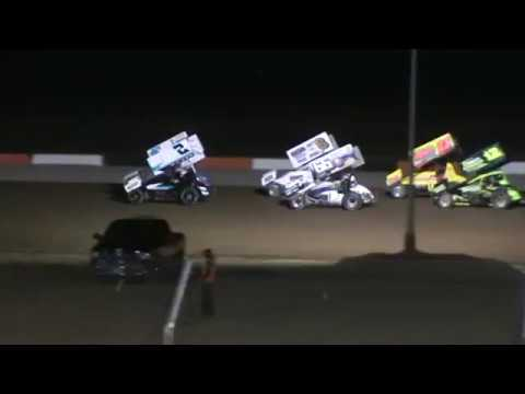 attica raceway park sprint car crash