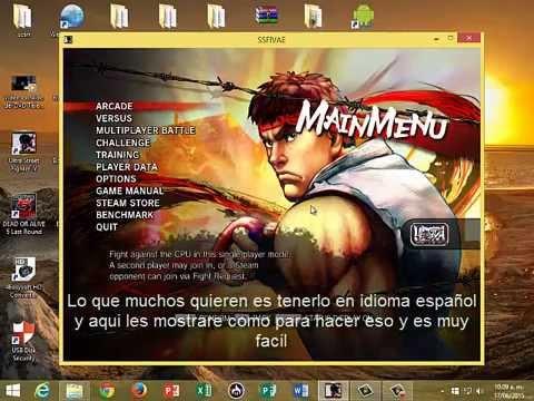 Ultra Street Fighter IV Videotutorial cambiar el idioma