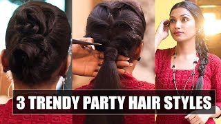 3 Trendy hairstyles for Party, Wedding & Reception   Say Swag