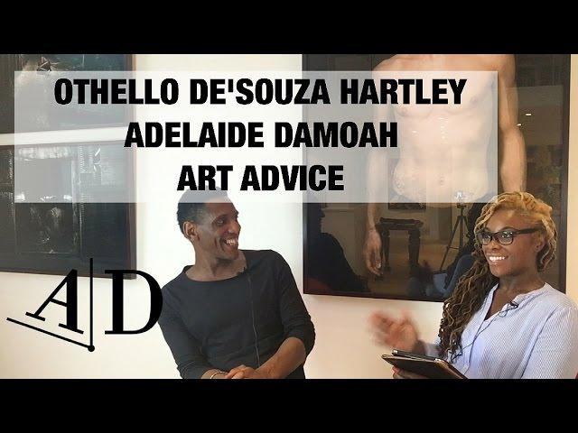 Othello DeSouza-Hartley Gives Art Advice To His Younger Self. ADELAIDE DAMOAH ART SUCCESS
