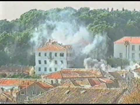 Serbian Attack  On Dubrovnik (December 1991), Hrvatska , Kroatien, Croatia, Croatie, Croazia.avi