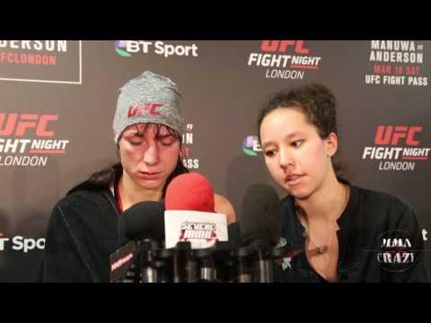 Lucie Pudilova UFC Fight Night London Post Fight Media Scrum