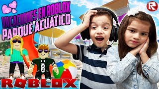 ADVENTURES IN THE AQUATIC PARK WITH MY EMILIANITO BROTHER - ROBLOX GAMES FOR CHILDREN💜
