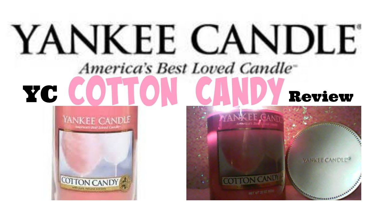 Yankee Candle Review Cotton Candy - VanScott #54 - YouTube