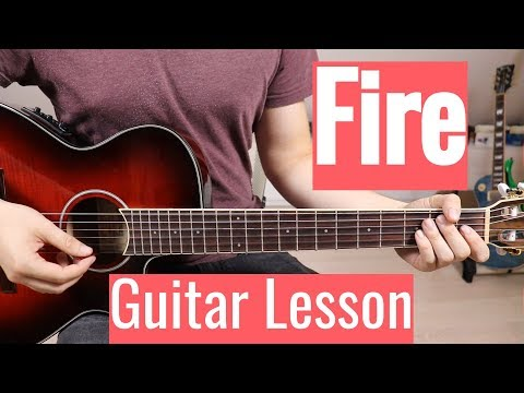 Barns Courtney - Fire   Guitar Lesson/Tutorial   Easy How To Play (Chords)