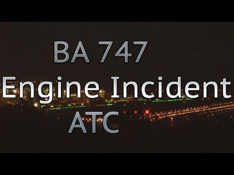 British Airways 747 Phoenix engine incident full ATC