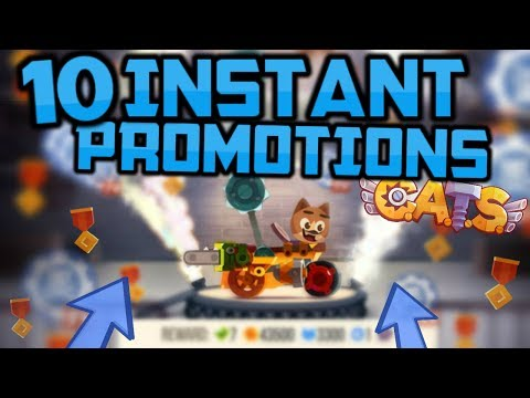 10 INSTANT PROMOTIONS! The Best Maxed Machine in C.A.T.S. (Crash Arena Turbo Stars)