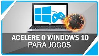 Como turbinar desempenho do Windows 10 em Jogos ( SEM PROGRAMAS )