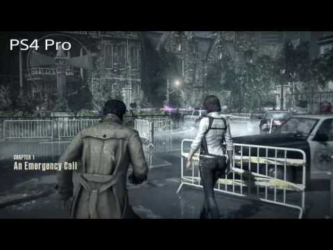 PS4 Pro Boost mode comparison Evil within Letter-box off