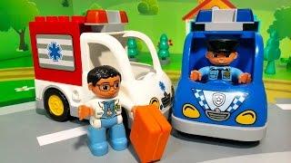 Мультики Мультфильмы про машинки. Полицейская машина Скорая помощь - важная работа. Видео для детей