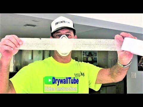 Drywall taping and mudding a water damage ceiling repair and wall repair