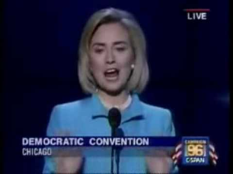 DNC 1996 - 7 First Lady Hillary Rodham Clinton - Part 1