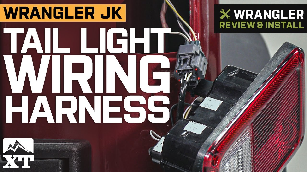 Jeep Wrangler JK Tail Light Wiring Harness Review & Install - YouTube | Wrangler Tail Light Wiring Harness Diagram |  | YouTube