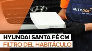 Cómo cambiar Filtro de Habitáculo en HYUNDAI SANTA FÉ CM INSTRUCCIÓN   AUTODOC