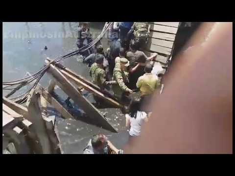 Officials Fall through a footbridge while inspecting projects in Zamboanga City