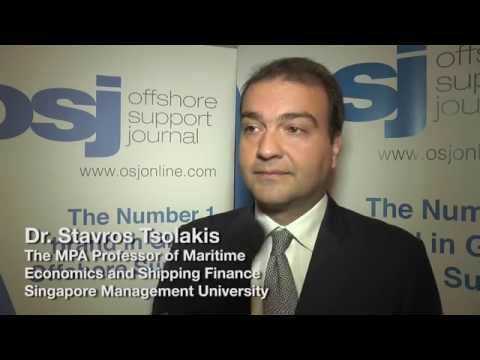 Stavros Tsolakis speaking at the Asian Offshore Support Journal Conference 2014