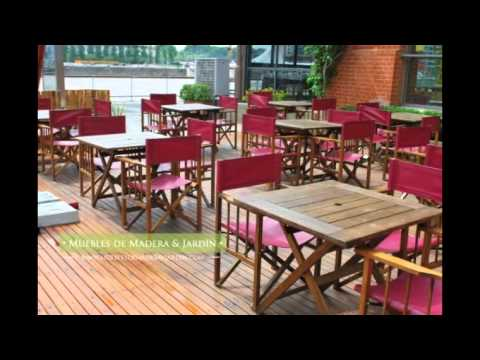 Mesas para bar muebles de madera y jard n com youtube - Muebles para bar ...