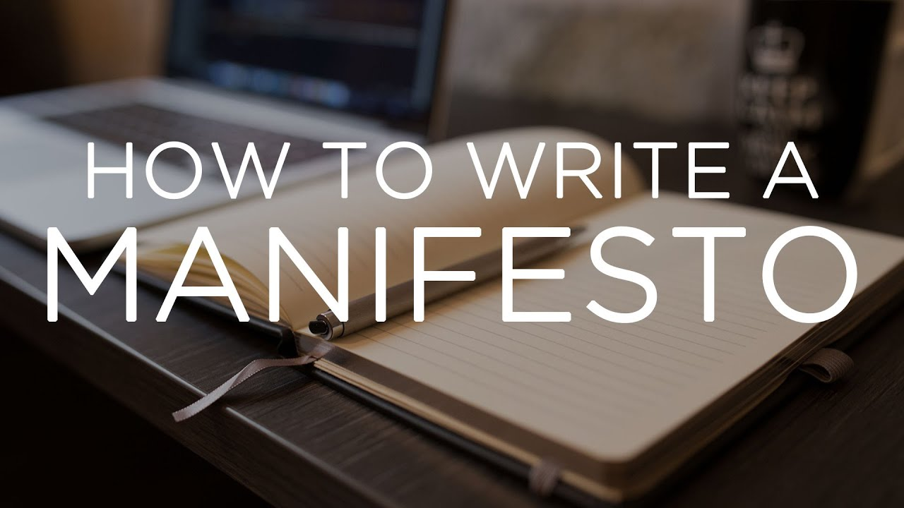 Manifesto Image: How To Write A Manifesto