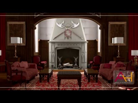 SCENE COMPOSING ● TVD LIVING ROOM ● 3dsmax VRay Rendering ·•● AppleHead CGI