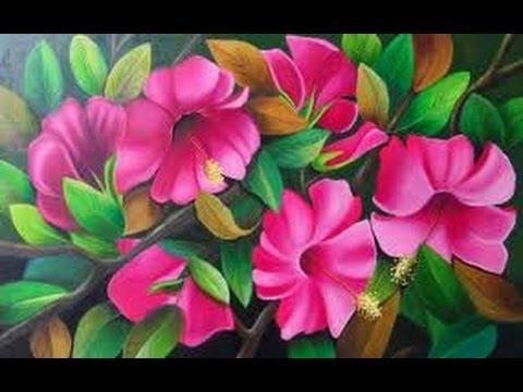 Como pintar flores al oleo Curso YouTube