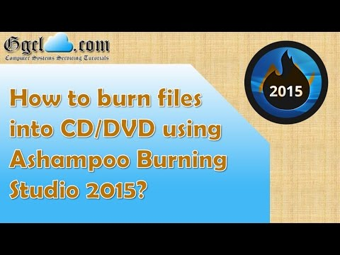 How to burn files into CD or DVD using Ashampoo Burning Studio 2015