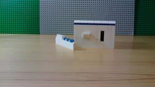 Мини-сейф из Lego ( с ключом )