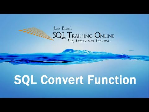 Sql Training Online - Sql Convert Function