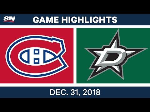 NHL Highlights | Canadiens vs. Stars - Dec 31, 2018