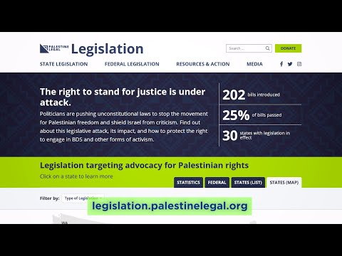 Exploring our new site tracking legislation about Palestine advocacy