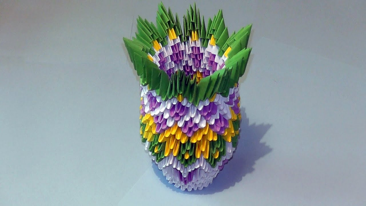3d origami how to make a vase modular origami tutorial youtube reviewsmspy