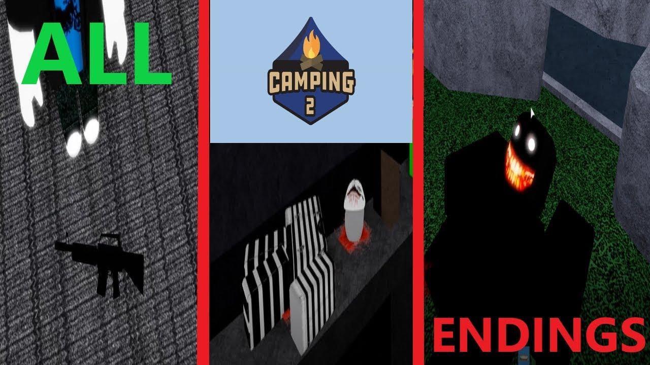 All Endings In Camping 2 Updated Secret Ending видео - secret ending update airplane 2 all 4 endings excluding super secretp2w ending roblox