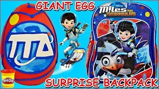 BACK TO SCHOOL Miles from Tomorrowland GIANT Play Doh Surprise Egg and Surprise Toy Backpack