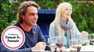 Josefin Crafoord och Anders Öfvergård i På middag hos Hannah & Amanda