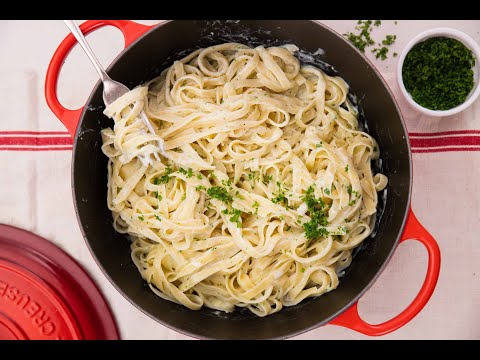 15 Minute Cottage Cheese Alfredo Pasta