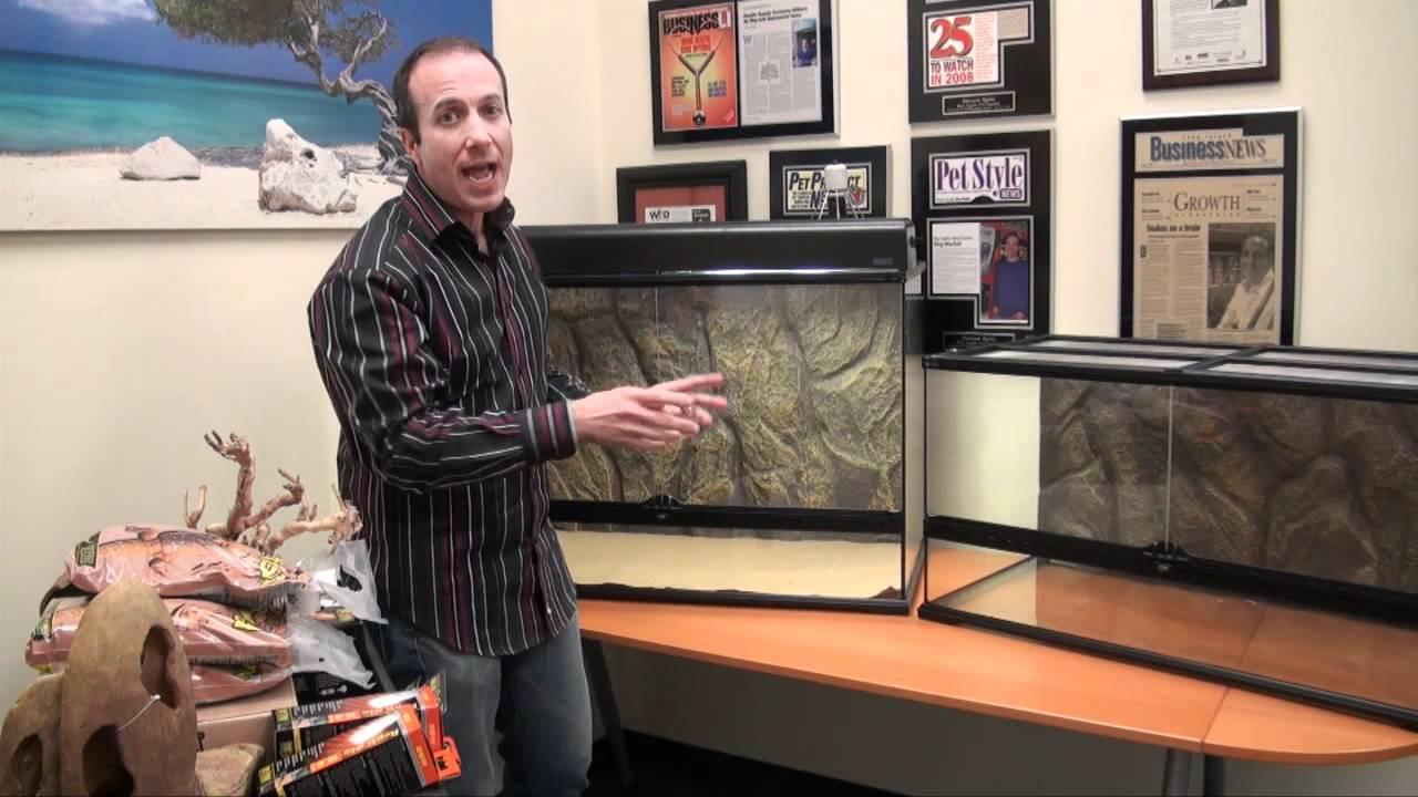 Large Exo Terra Desert Glass Terrarium Kits Complete Exclusive