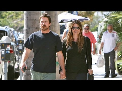 Christian Bale Braves Scorching L.A.Heat With Wife Sibi