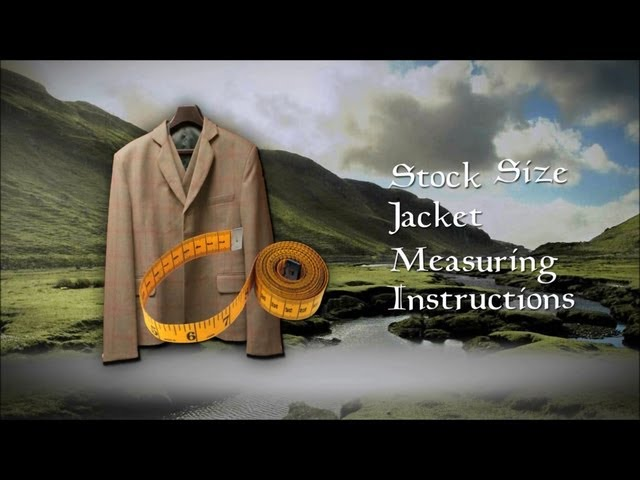 Stock Size Jacket Measuring Instructions