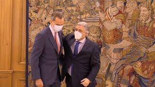El Rey Felipe VI reaparece tras la salida de Don Juan Carlos I de España