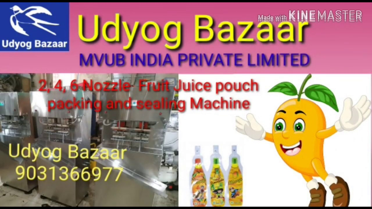 Fruit Juice pouch packing machine || latest business ideas