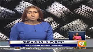 Police detain truck with 5,400 tyres