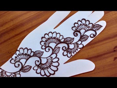 simple line mehndi designs