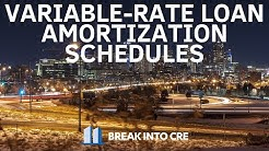How To Create a Variable Rate Loan Amortization Schedule