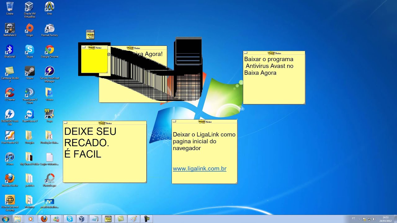 usando o post it software notes lite 3 1 1 youtube. Black Bedroom Furniture Sets. Home Design Ideas