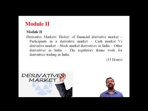 Introduction to Syllabus of Financial Derivatives (University of Calicut)