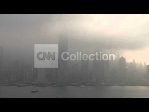 CHINA: SEVERE AIR POLLUTION IN HONG KONG