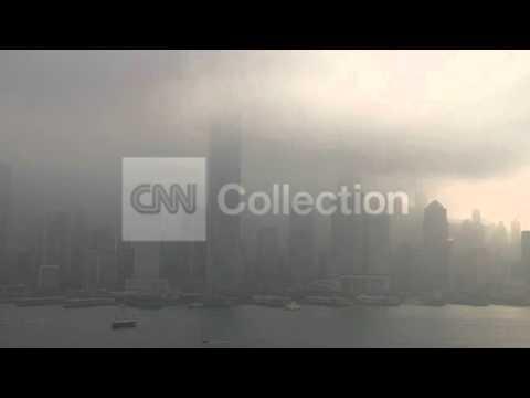 CHINA: SEVERE AIR POLLUTION IN HONG KONG