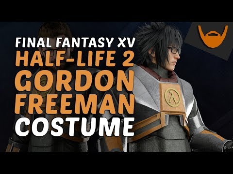 Final Fantasy XV - Half-Life 2 Collab / HEV Suit, Glasses & Crowbar!