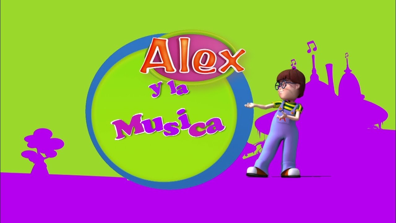 Alex, dibujos educativos preescolar: VIOLONCHELO (Alex y la Música)