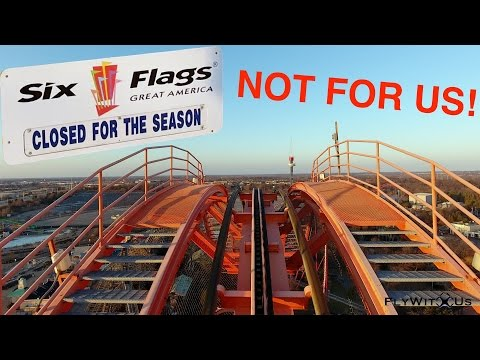 Free ride at the Six Flags Great America theme park featuring 4K aerial footage by DJI Phantom 4